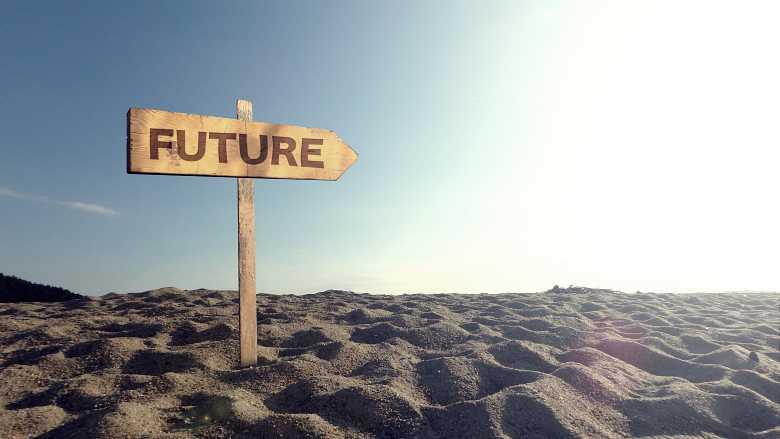 未来に向かう画像